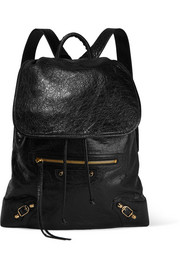 Traveller textured-leather backpack