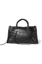 Balenciaga Classic Work textured-leather tote