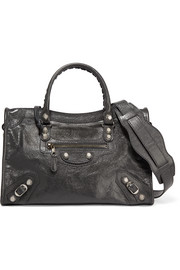 Balenciaga Giant 12 City AJ textured-leather shoulder bag