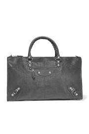 Giant 12 Work textured-leather tote