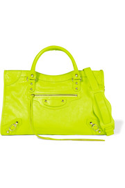 City Classic neon leather shoulder bag