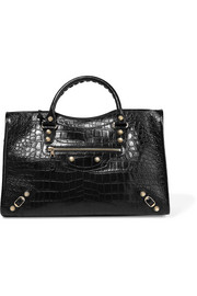 Giant 12 City croc-effect leather tote