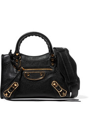 Balenciaga City mini textured-leather shoulder bag