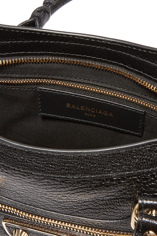 Balenciaga Metallic Edge City small textured-leather shoulder bag