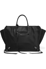 Papier B4 Zip Around textured-leather tote