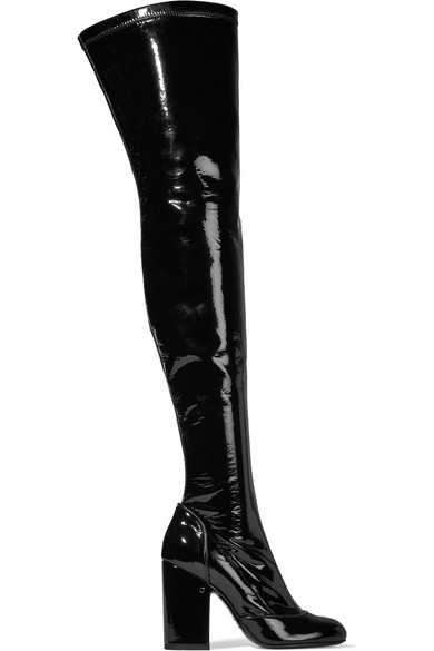 Laurence Dacade - Madison Patent-leather Over-the-knee Boots - Black