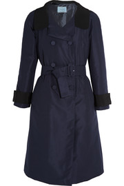 Prada Two-tone silk-faille coat
