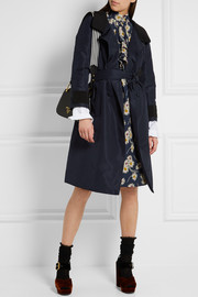 Two-tone silk-faille coat