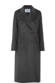Prada Double-breasted wool-blend coat