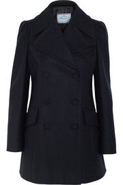 Prada Double-breasted wool-blend felt peacoat