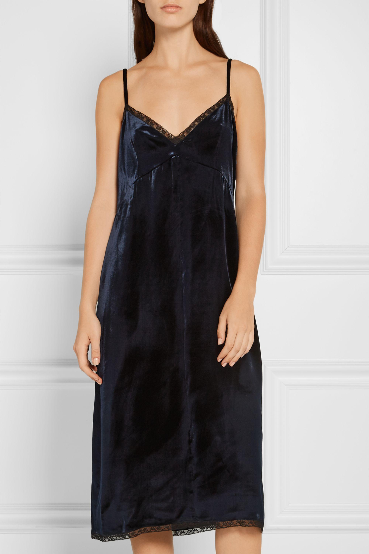 Prada Lace-trimmed velvet dress