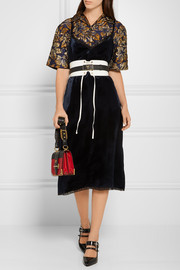 Prada Lace-trimmed velvet dress