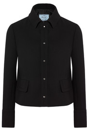 Prada Cropped wool-crepe jacket