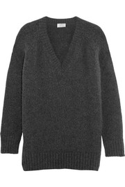 Oversized angora-blend sweater