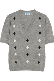 Prada Diamond intarsia cashmere sweater