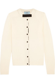 Prada Bow-embellished wool cardigan