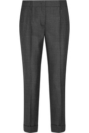 Wool slim-leg pants