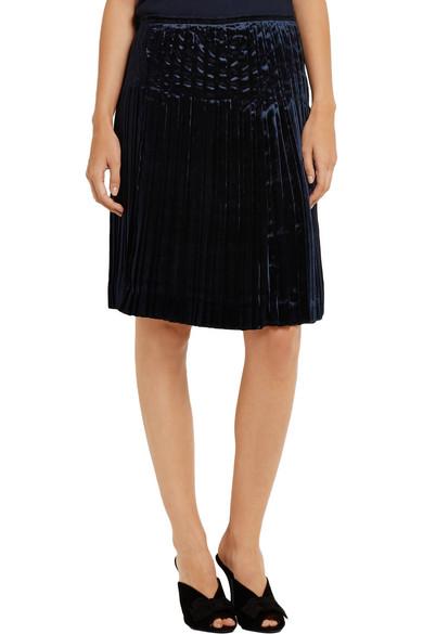 b114a30869ae7 Prada | Pleated velvet skirt | NET-A-PORTER.COM