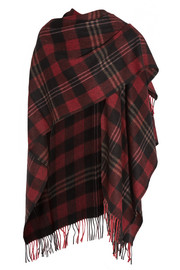 Tartan cashmere and wool-blend scarf