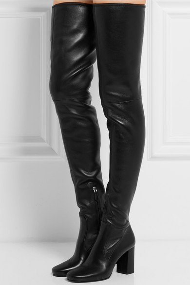 classic styles exclusive deals delicate colors Leather over-the-knee boots