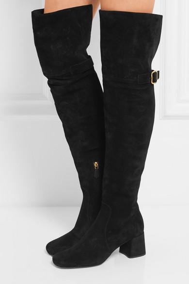 Over-the-knee velvet boots Prada sciH6oU