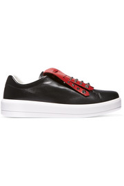 Prada Studded two-tone leather sneakers