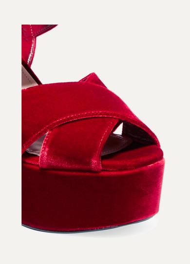 b4d9baf96156 Velvet platform sandals. £290. Zoom In