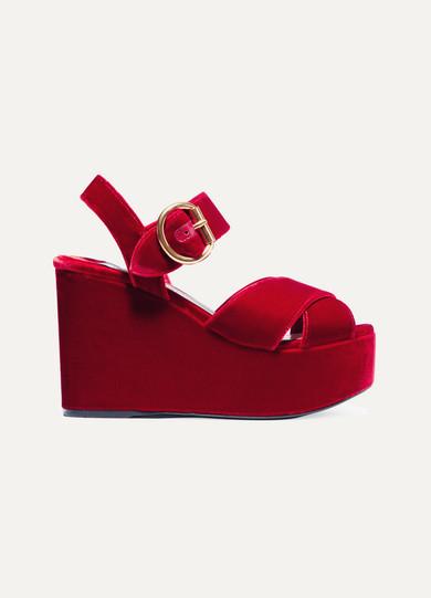 d238cecc4633 Prada. Velvet platform sandals