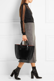 Victoria Beckham Tulip small croc-effect leather tote