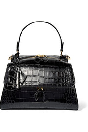 Victoria Beckham Croc-effect leather tote