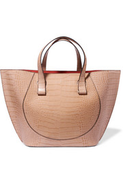 Victoria Beckham Tulip large croc-effect leather tote