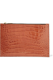 Victoria Beckham Croc-effect leather pouch