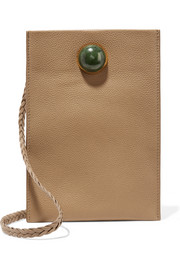 The Row Medicine embellished textured-leather shoulder bag