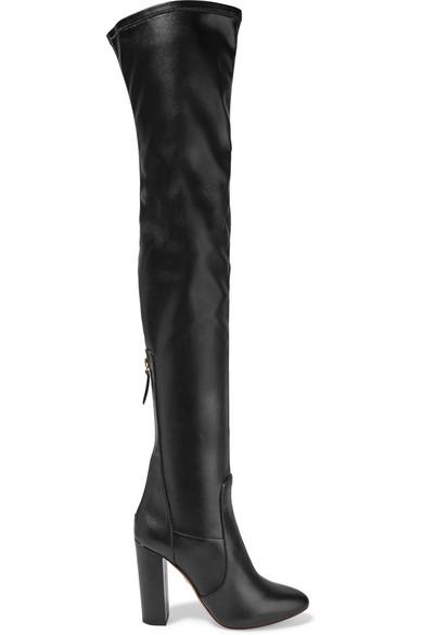 Aquazzura | Stretch-leather over-the-knee boots | NET-A-PORTER.COM