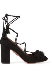 Wild Thing fringed suede pumps