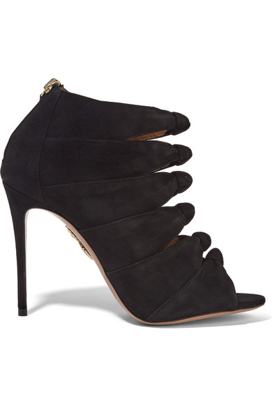 Aquazzura Suede Caged Pumps from china for sale professional cheap online outlet recommend websites cheap price 7hprhNm