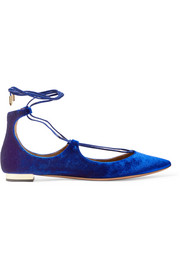 Christy velvet point-toe flats