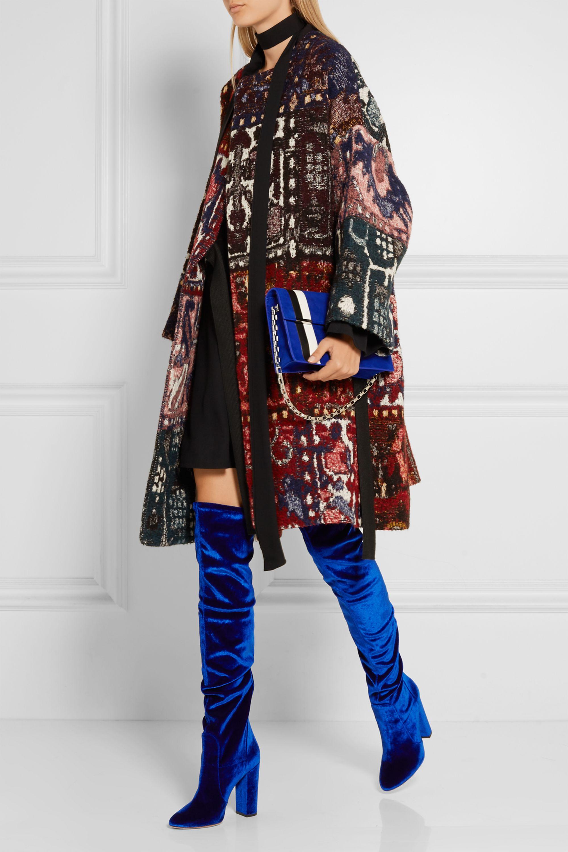 Aquazzura Thigh High velvet over-the-knee boots