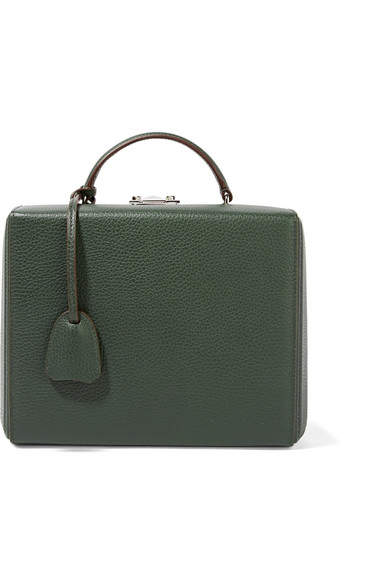 Mark Cross - Grace Large Textured-leather Shoulder Bag - Dark green