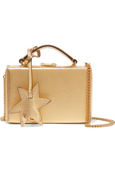 Mark Cross - Grace Mini Metallic Textured-leather Shoulder Bag - Gold