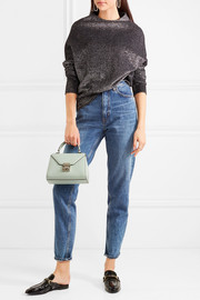 Hadley baby textured-leather shoulder bag