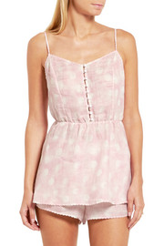 Amore In Kos polka-dot linen camisole
