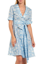 Amore In Kos polka-dot linen robe