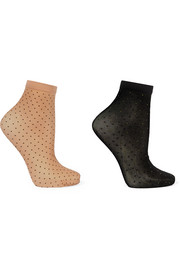 Wolford Nola set of two polka-dot 20 denier socks