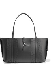 Fishbone fringe-trimmed leather tote