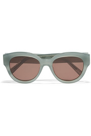 Elizabeth and James Atkins round-frame acetate sunglasses