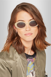 Elizabeth and James McKinley round-frame acetate sunglasses