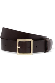 Classic leather waist belt