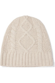 Cable-knit cashmere beanie