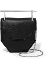 M2Malletier Amor Fati mini glittered textured-leather shoulder bag